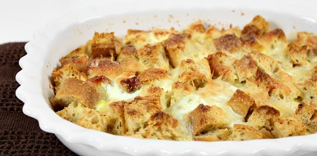 Rosemary & Parmesan Savory Bread Pudding