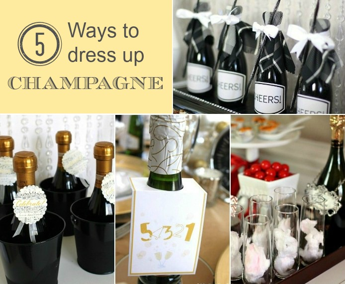 celebrate with champagne