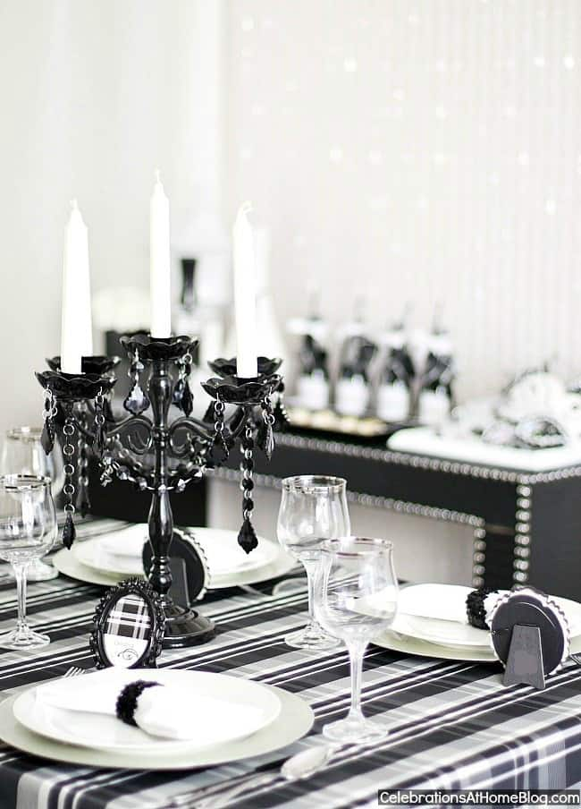 Black White Dinner Party Ideas Celebrations At Home