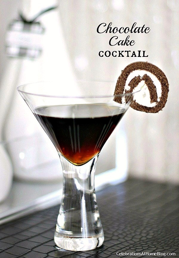 Cake With Chocolate Vodka : Chocolate Cake Cocktail - Celebrations at Home