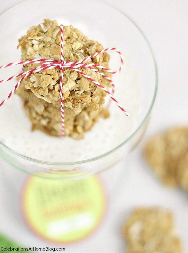 Oatmeal coconut cookie recipe perfect for holidays or year round.