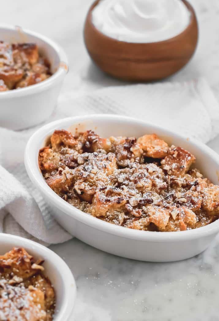 easy eggnog bread pudding