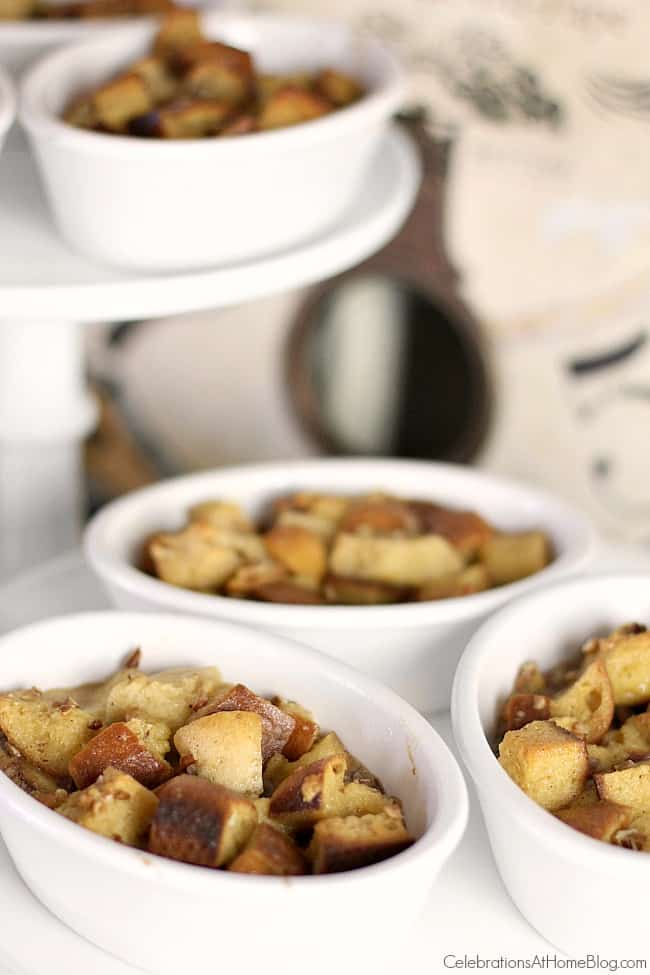 Serve this brunch recipe eggnog bread pudding for Christmas morning. It's fantastic for the holidays!