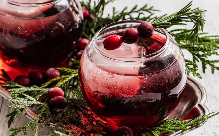 Add this Red Christmas Cocktail to your Holiday Celebration