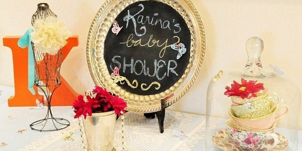 Vintage Style Tea Party Baby Shower {Guest Feature}