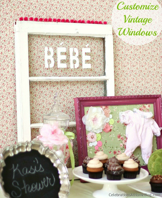 diy painted window display
