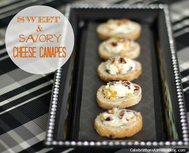 sweet & savory cheese canapes