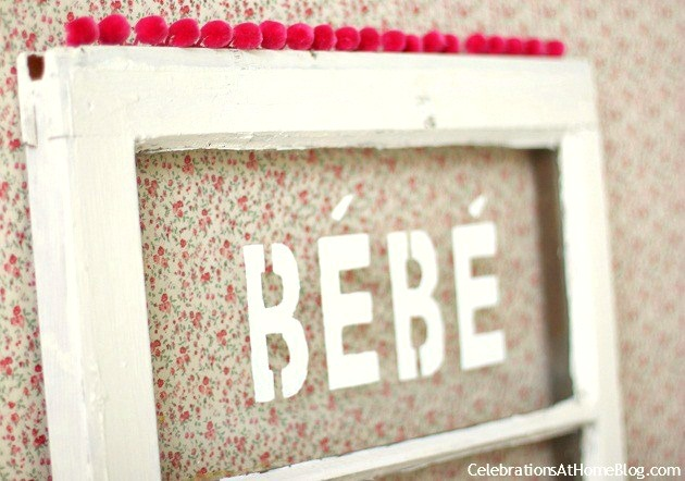 shabby chic window display