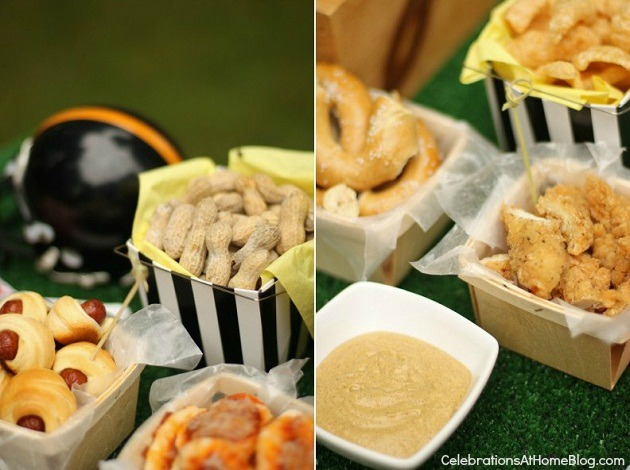 "game day snacks - mini ""stadium foods"""