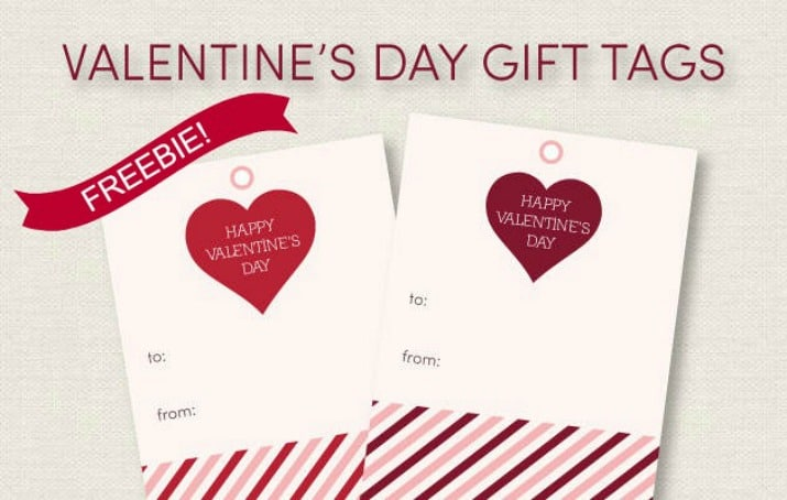 photograph regarding Printable Valentine Tag called Absolutely free Valentines Working day Present Tags - Celebrations at House