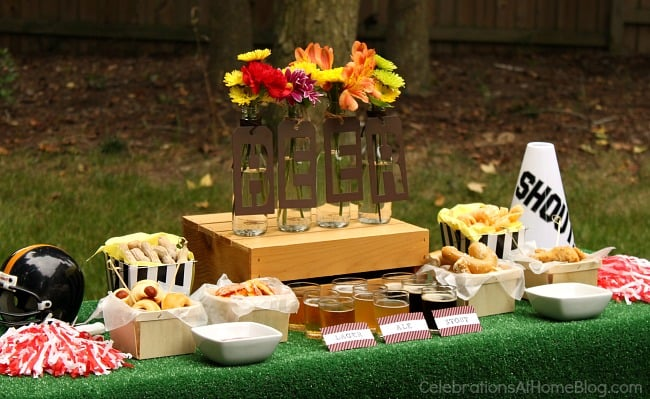 Host a game day beer party with these ideas, tips, and images to inspire you.