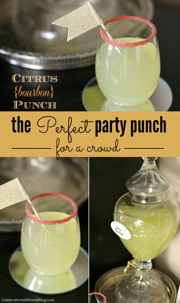 bourbon citrus party punch