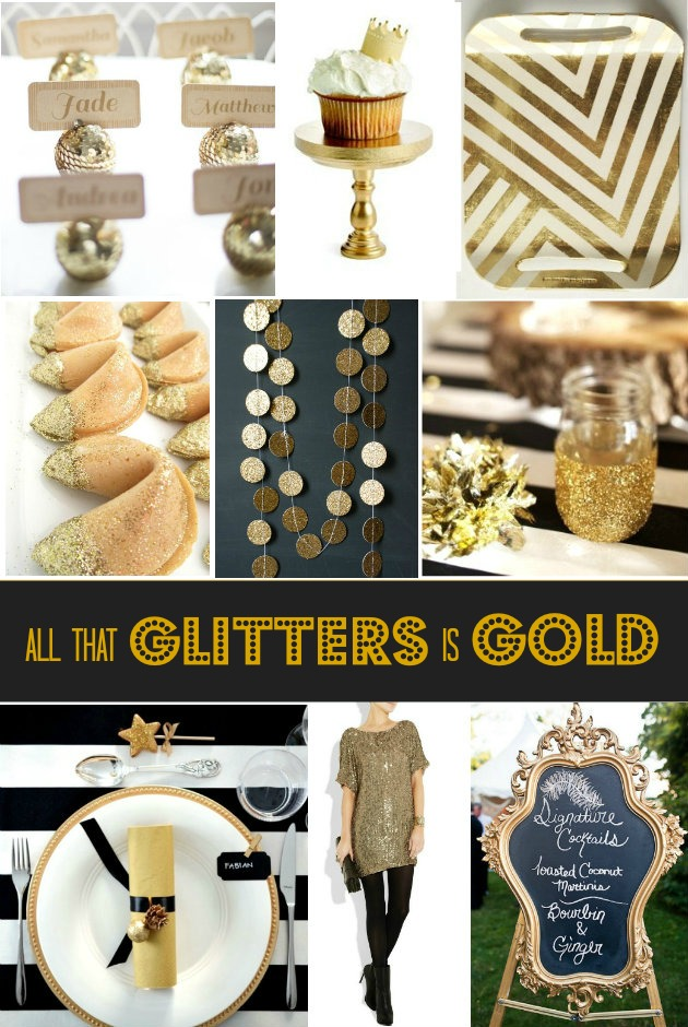 gold party ideas