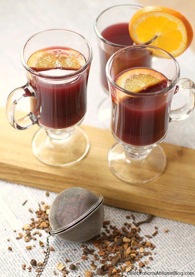 Make a batch of hot mulled wine and sip with friends or family. Get the recipe here.