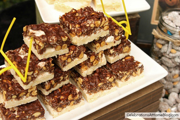 marshmallow choco nuts bars