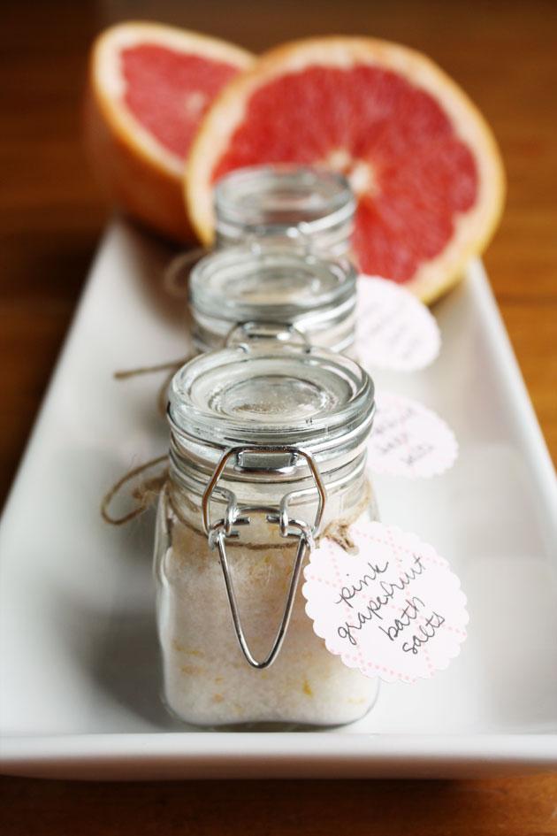 pink grapefruit bath salts