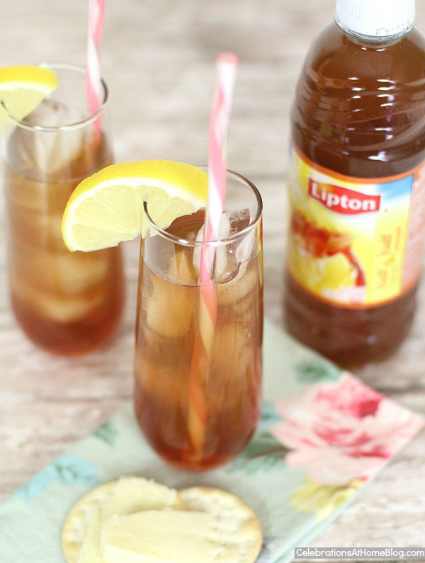 bourbon lemon tea cocktail