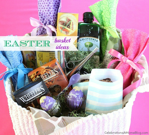 Ideas for easter baskets celebrations at home gift basket ideas negle Images