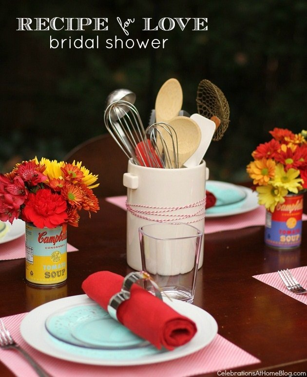 recipe for love bridal shower