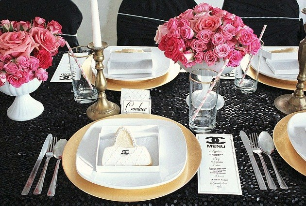 Chanel Themed 21st Birthday Party