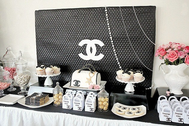 Chanel Themed Party Cookies