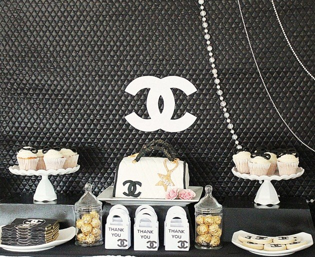 chanel themed 21st birthday party  guest feature