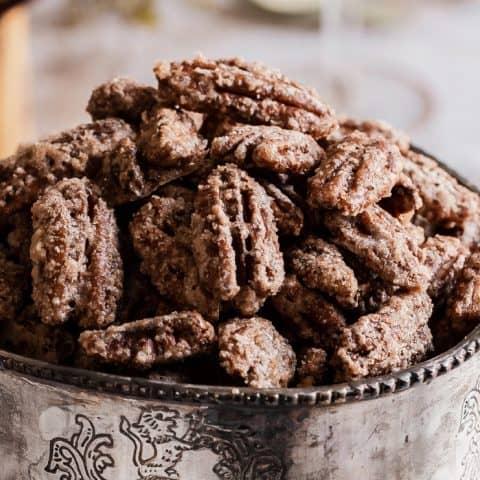 Cinnamon Sugar Candied Pecans recipe