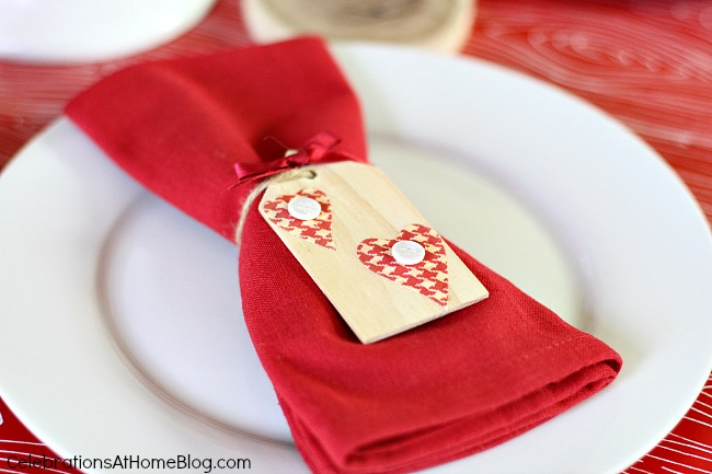 rustic ornament as napkin tie
