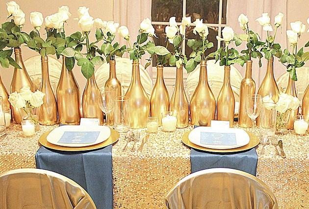 gold glam wedding