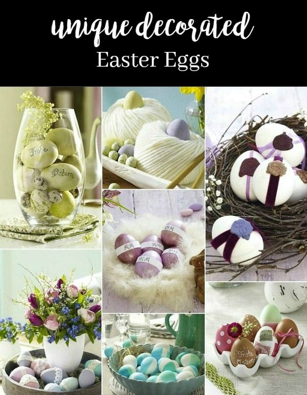 If you like unique decorated Easter eggs, you'll love these ideas. Move over colored dye, these are some new ways to make your eggs stand out!