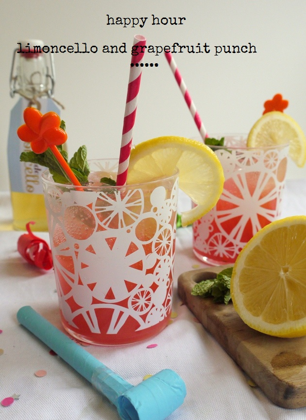 limoncello and grapefruit punch
