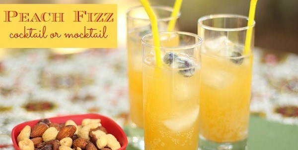 Peach Fizz Drink : Cocktail Or Mocktail