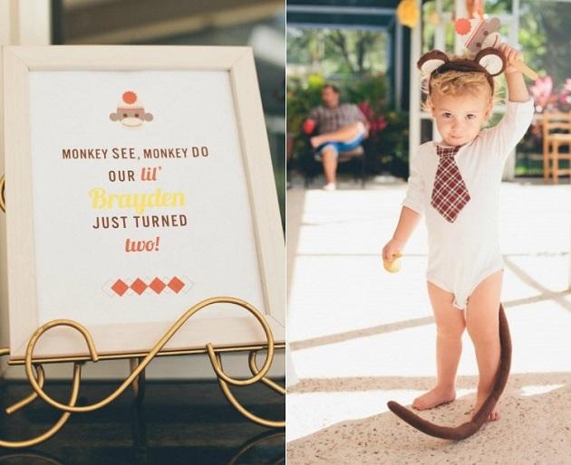 Sock Monkey birthday party