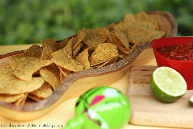 chips in rustic bowl - cinco de mayo