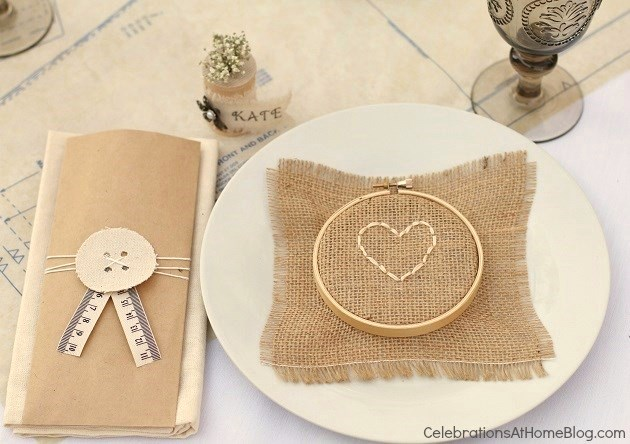 shabby chic place setting