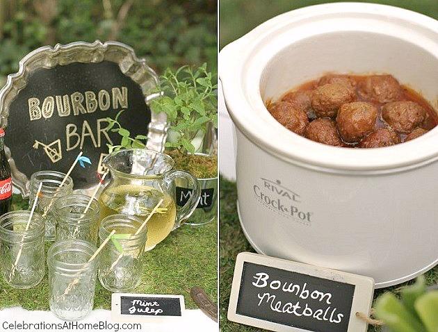 bourbon bar and bourbon meatballs