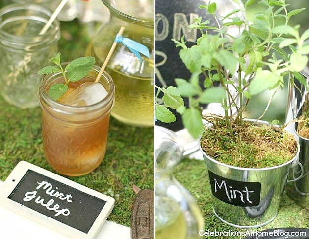 mint juleps for the bourbon bar