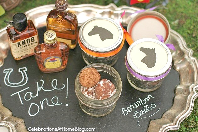 bourbon bar party favors