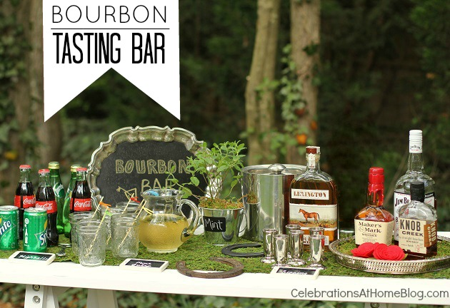 set up a bourbon tasting bar