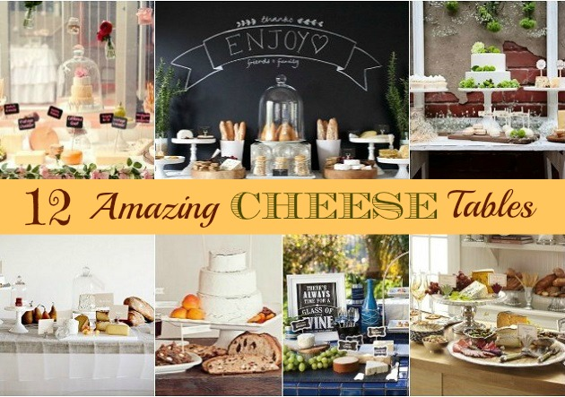 cheese party display tables