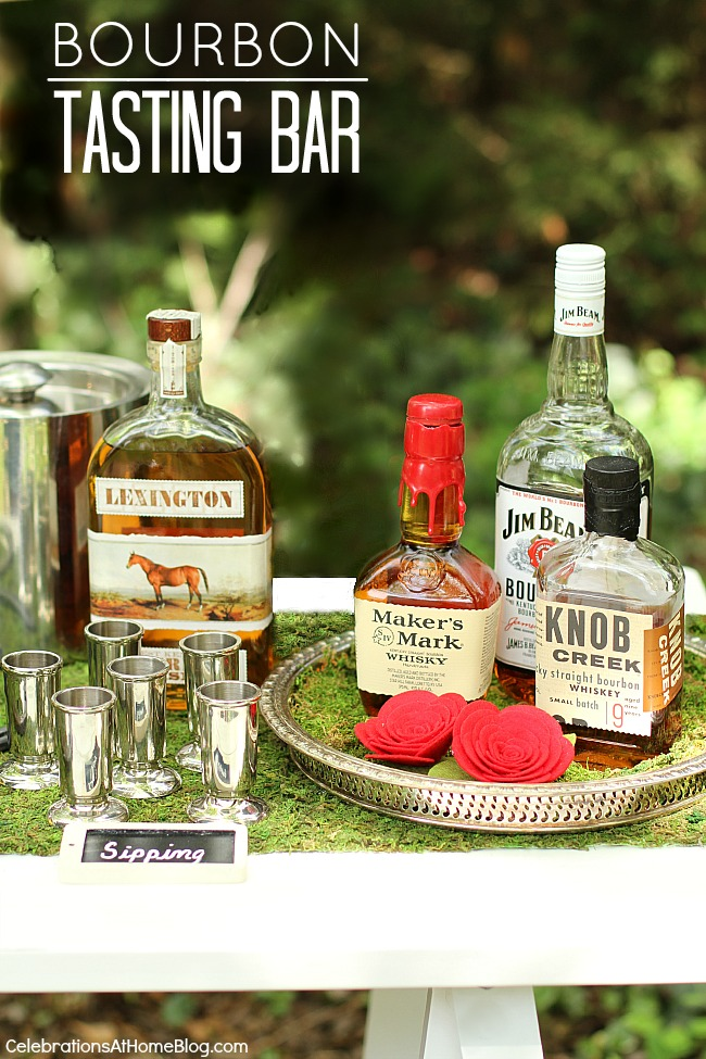 How to set up a bourbon tasting bar