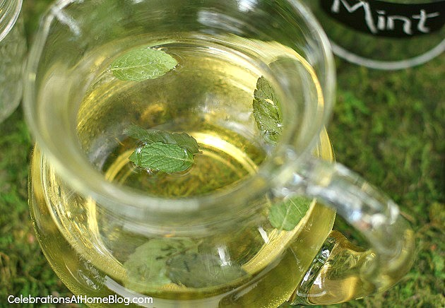 mint simple syrup recipe for mint juleps