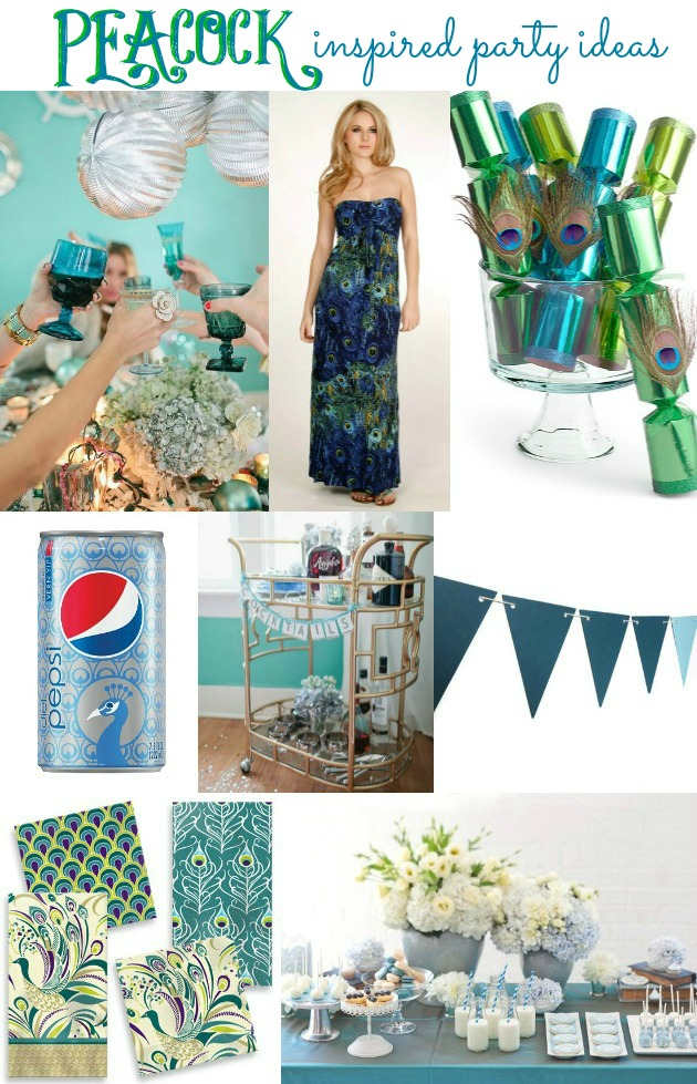 peacock inspired party ideas