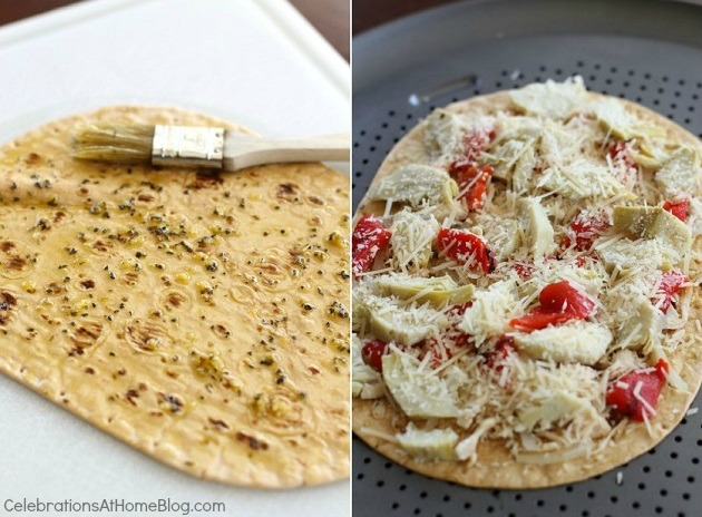 make your own flatbread pizza