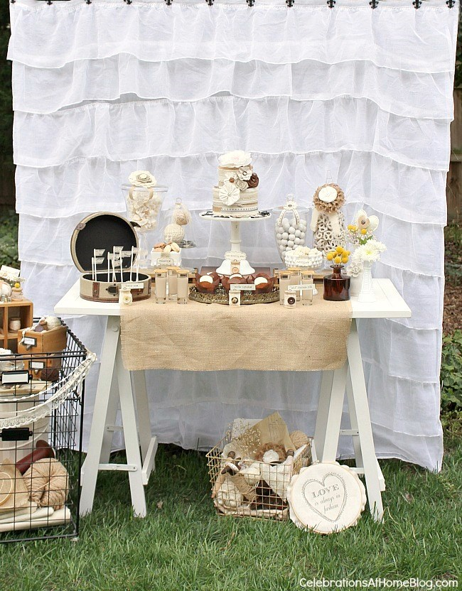 Shabby Chic Bridal Shower Dessert Table Celebrations At Home