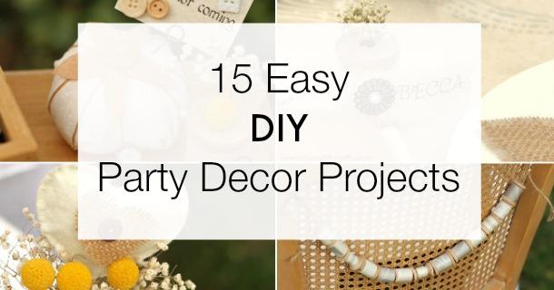 15 Unique DIY Party Projects