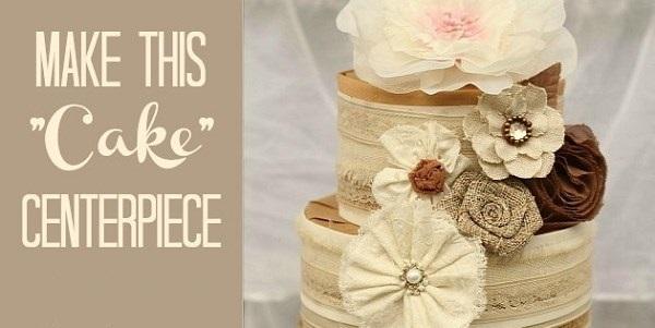 """How To Make A Ribbon & Trim """"Cake"""" Centerpiece"""