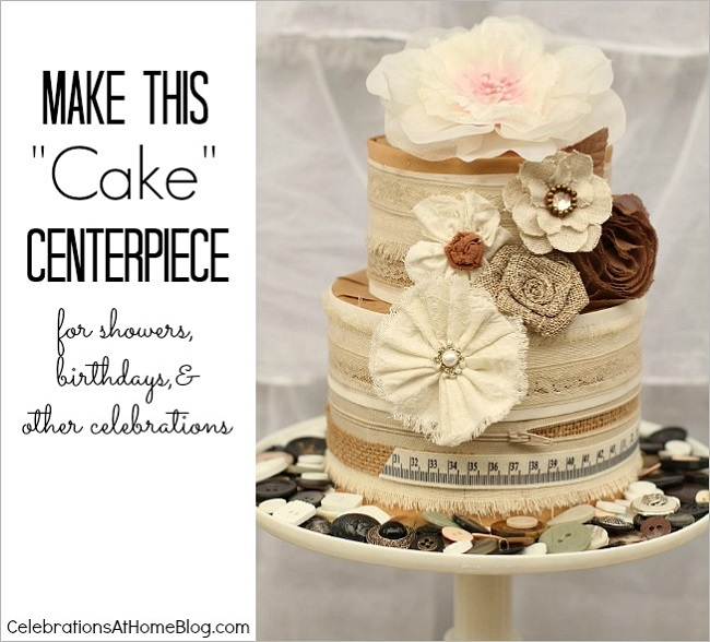 diy crafted cake centerpiece