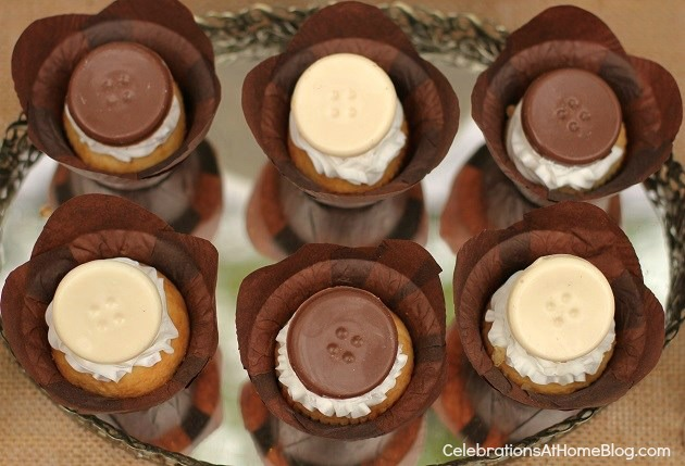 chocolate button toppers
