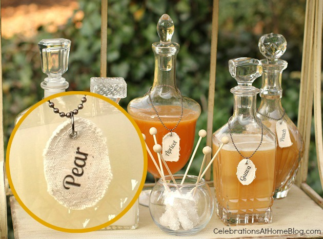 diy bottle necklace drink markers
